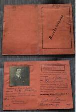 Alter Firmen Ausweis Brecher & Co DRESDEN Wäschefabrik 1926 / Schmalzerode