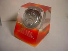 Orange Lucite Paperweight Button Down Promotion - Beverage Packaging TCBC-142