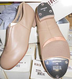 BLOCH SPLIT SOLE JAZZ TAP BOOT SO389L TAN Great Sound & Price Ladies Sizes