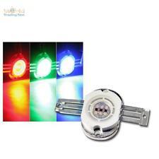 10x Highpower LED Puce 10W RGB,RONDE,350mA rouge vert bleu Haute tension 10 Watt