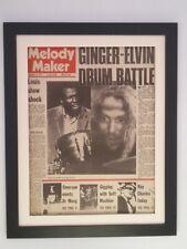 GINGER BAKER*ELVIN JONES*Drum Battle*1970*ORIGINAL*COVER*FRAMED* FAST WORLD SHIP