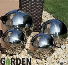 Set of 4 Stainless Steel Sphere Garden Mirror Gazing Globes Ball Stainless Steel