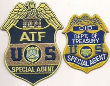 Federal: 2 pezzi agente speciale ATF-CID polizia distintivo Patch ricamate Police