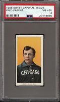 1909-11 T206 Fred Parent Sweet Caporal 150 Chicago PSA 4 VG - EX