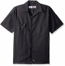 Red Kap Men's Ripstop Crew Shirt, Short Sleeve, Charcoal, Large