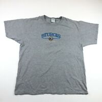 Anvil Mens Sturgis 2005 Light Gray Embroidered T Shirt Size XL
