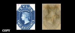 CEYLON BRITISH COMMONWEALTH  1857 2Sh  ESTIMATE VALUE 6500£     COPY
