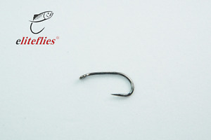 Elite Black Nickel Comp Barbless heavy size 12 fly tying hook , fishing, trout