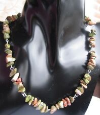 Collar de chips de Unakite
