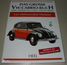 Bildband Das Grosse VW Cabrio Buch Käfer Karmann Ghia Golf I III Exoten Heel NEU