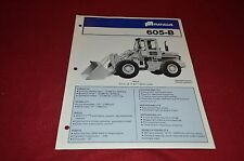 Fiat Allis Chalmers 605-B Wheel Loader Dealer's Brochure DCPA2