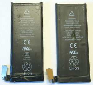 2X BATTERIE IPHONE 4 4s 3.7V 1420 mAh P11G97-02-S01 GB-S10-423482-0100 BATTERY