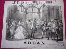 """GRAVURE MUSICALE 1850 """" Le premier jour de bonheur """"  Opéra comique"""
