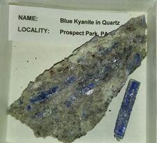Blue Kyanite rough mineral specimen rock collection Prospect park PA USA