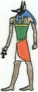 Égyptien Mythologie Dieu De Le Dead Anubis Brodé à Repasser à Coudre Patch