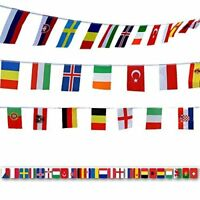 G2PLUS Flag Bunting 50 M World Flags Bunting with 200 Different National Flags 1