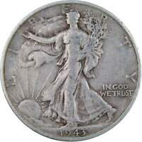 1943 S Liberty Walking Half Dollar VF Very Fine 90% Silver 50c US Coin