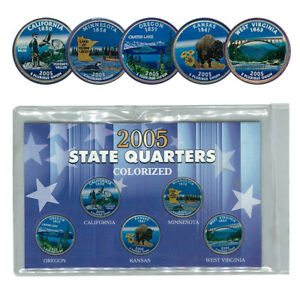 2005 State Quarters Colorized Set