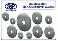 6MM X 20MM A2 STAINLESS STEEL REPAIR WASHER PENNY WASHERS ST/STEEL ST/ST M6 X 20
