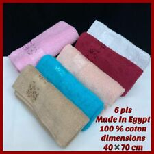 100% Cotton Embroidery Lavender Aromatherapy Soft Bath Hand Face Towel Sheet Set