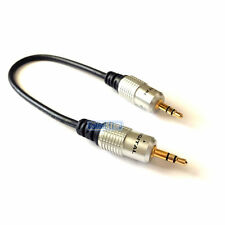 PRO 25cm SHORT 3.5mm Aux Jack Cable 24k Gold Connectors OFC Headphone Lead