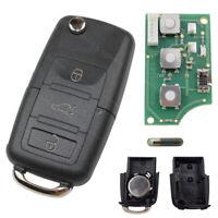 Klapp Schlüssel 1J0959753DA Fernbedienung 434 MHz passend für VW Seat Skoda Golf