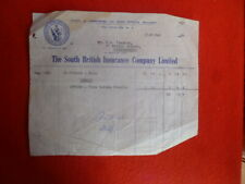 SCOTTISH BRITISH INSURANCE Co LTD BALLARAT  1964 RECEIPT