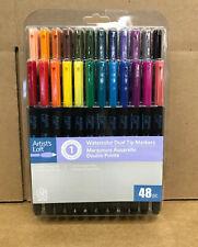 NEW Artist's Loft Watercolor Dual Tip Markers 48 colors