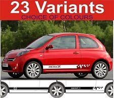 Nissan Micra Seite Streifen Aufkleber Auswahl Design