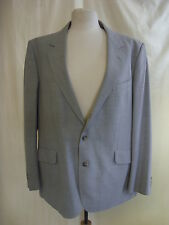 "Mens Suit Jacket - C&A, 44"" chest SHORT, grey, 45% wool, some marks/stains 1037"