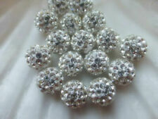 6mm Small Hole Premium Shamballa Crystal Pave Clay Disco Ball Round Beads