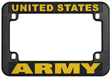 US ARMY PLASTIC MOTORCYCLE LICENSE PLATE FRAME - MADE IN THE USA!!