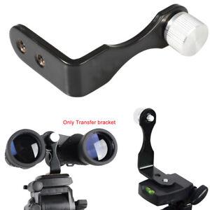 "Universal Metal Tripod Adapter Mount bracket Binoculars L-shape Twin 1/4"" Thread"