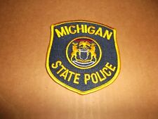 Vintage Original Michigan State Police Uniform Shoulder Patch~New~MI~Mich~