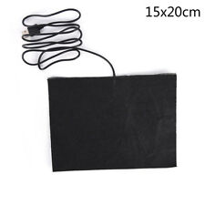 5V Carbon Fiber Heater Electric Heated Winter Clothes Warm Black Pad Keep JCAUBD