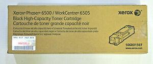 Xerox Phaser 6500 WorkCentre 6505 Black High-Capacity Toner Cartridge 106R01597