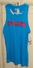 """Women's 18"""" Large ADIDAS ULTIMATE TANK """"Solar Blue"""" CANADA Top Athletic Shirt"""