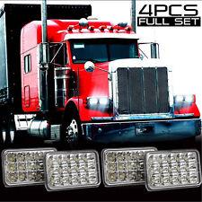 "Pack of 4 4X6"" LED Headlight for Western Star 4900 Semi Truck Peterbilte 357 378"