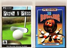 PITCH N PUTT & 3D BOWLING. 2 RETRO ARCADE STYLE GAMES FOR THE PC!