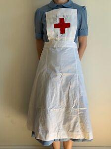 Handmade WWII style Nurse Apron uniform, 1939-54, new, sizes 2-30
