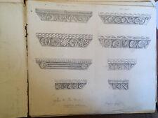 CARNET DESSIN 20 pages dessinées DEbut XX Sur L architecture chapiteau plante