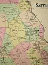 1870 Smithfield, Ri. Map That Has Been Removed From The Beer'S 1870 Atlas