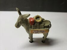Vintage Kansas City Mo Cast Metal Mule Donkey Souvenir Paperweight