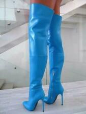 Women's Shoes Stilettos High Heel Over The Knee thigh Boots Patent Leather Boots