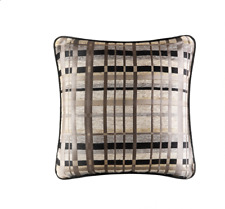 "J Queen New York Structure 18"" Square Decorative Pillow Bedding - Taupe"