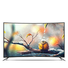 "0Skang 32"" Curved LED Smart TV HD 4G ROM Flat-Panel USB HDMI 1920x1080"