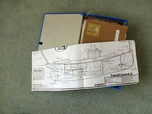 Boxfile with collection of model boat full size plans