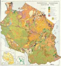 1949 Gillman Map of Vegetation in Tanganyika (Tanzania)
