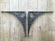 More details for pair of large cast iron wall shelf brackets iron bridge bracket 13