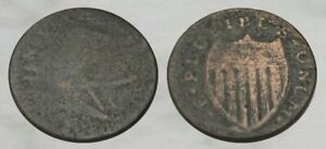 ☆ AUTHENTIC !! ☆ 1786 New Jersey Colonial Copper Coin !! ☆